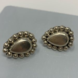 Jewelry - Vintage Mexico Sterling silver earrings 925